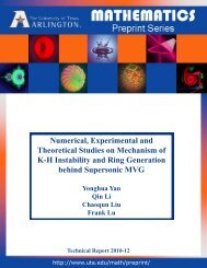 Numerical, Experimental and Theoretical Studies on Mechanism of ...