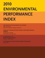 2010 ENVIRONMENTAL PERFORMANCE INDEX