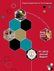 VDFP 2010 Annual Report - Virginia Department of Fire Programs ...