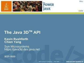 Download PDF file - Java 3D Parent Project