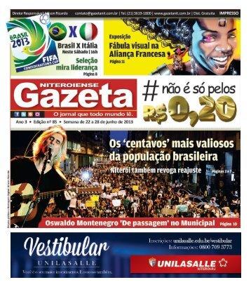 Diretor Responsável: Nilson Ricardo contato@gazetanit.com.br | Tel ...
