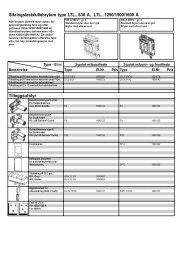 Sikringslastskillebrytere type LTL...630 A, LTL...1250/1500/1600 A ...
