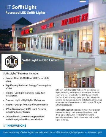 ILT SoffitLight LED Retrofit Kit Data Sheet - International Light ...
