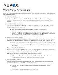 Voice Portal Set-up Guide