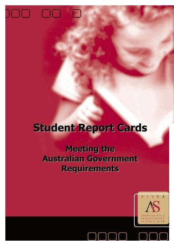 Student Report Cards - Association of Independent Schools of SA