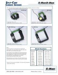 Split Core Current Sensors - E-Mon