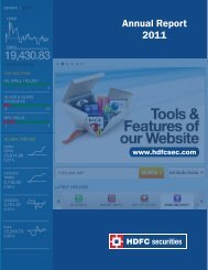 Audited Annual Report for the Financial Year ... - HDFC Securities