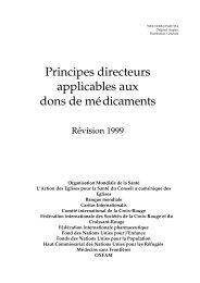 Principes directeurs applicables aux dons de ... - libdoc.who.int