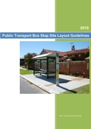 Bus Stop Layout guidelines - Public Transport Authority