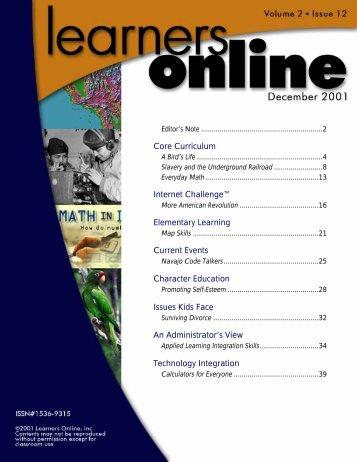 LearnersOnline December 2001 - Park Hill School District