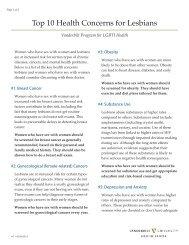 Top 10 Health Concerns for Lesbians - Vanderbilt School of ...