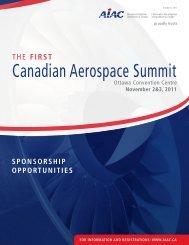 Canadian Aerospace Summit - Aerospace Industries Association of ...
