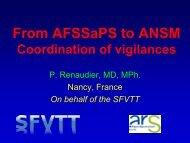 From AFSSaPS to ANSM Coordination of vigilances