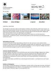 Infoblatt Schule Mülligen 1. Quartal 2011/2012