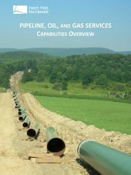 PIPELINE, OIL, AND GAS SERVICES - Hatch Mott MacDonald