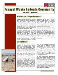 Fasayel Wusta Bedouin Community - Jlac
