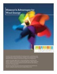 Missouri's Advantages for Wind Energy - Missouri Partnership