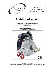 Portable Winch Co.