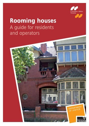 Rooming Houses A Guide For Residents And Operators