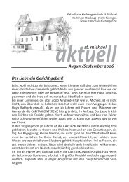 August-September 2006 - Katholische Kirchengemeinde St. Michael