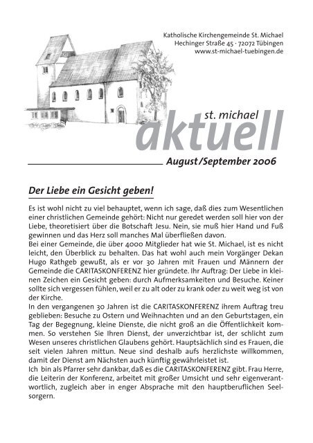 August-September 2006 - Katholische Kirchengemeinde St. Michael