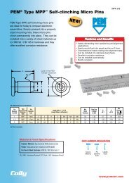 PEM® Type MPP™ Self-clinching Micro Pins - Colly Components