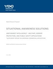 Situational Awareness Solutions: 2009 Market ... - VDC Research