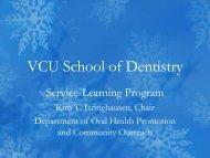 VCU School of Dentistry Preceptorship Programs