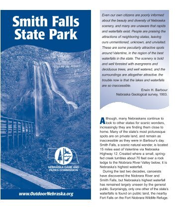 Smith Falls State Park Brochure - Nebraska Game and Parks ...