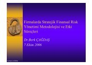 Firmalarda Stratejik Risk Yönetimi ve Etki Süreçleri - REF
