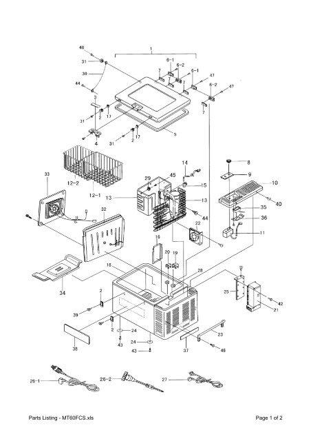 Parts Listing - MT60FCS - Engel Australia