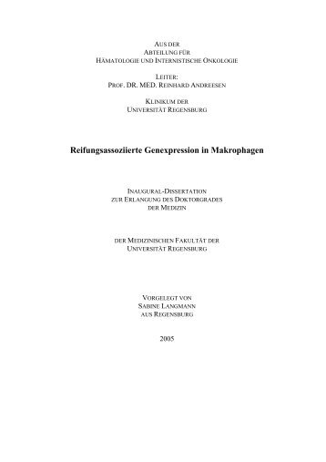 Reifungsassoziierte Genexpression in Makrophagen