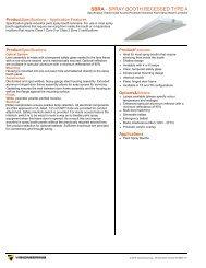 SBRA - SPRAY BOOTH RECESSED TYPE A - Visioneering