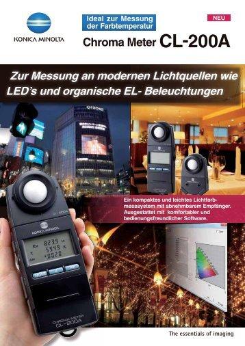 Chroma Meter CL-200A - KONICA MINOLTA | Europe