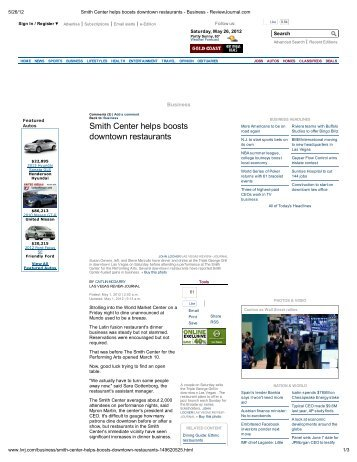 Smith Center helps boosts downtown restaurants - Fifth Street Gaming