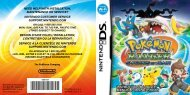 INSTRUCTION BOOKLET/ MANUEL D'INSTRUCTIONS - Nintendo