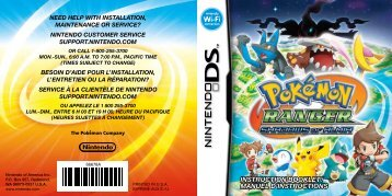 INSTRUCTION BOOKLET/ MANUEL D'INSTRUCTIONS - Nintendo