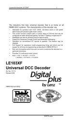 LE103XF Universal DCC Decoder - Lenz USA