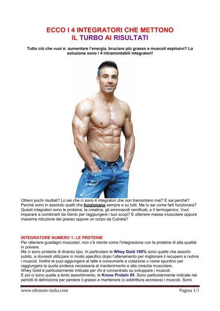 come perdere grasso piuttosto che guadagnare muscoli