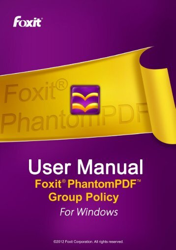 Foxit PhantomPDF GPO User Guide
