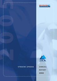 VÝROČNÍ ZPRÁVA ANNUAL REPORT 2005 - JKR