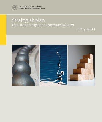 Strategisk plan - Det utdanningsvitenskapelige fakultet