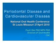 Paul Eke - National Oral Health Conference