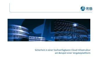 Sicherheit in einer Cloud-Infrastruktur am Beispiel Vergabeplattform