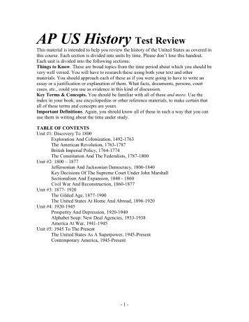 Ap us history review
