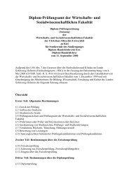 Prüfungsordnung - Christian-Albrechts-Universität zu Kiel