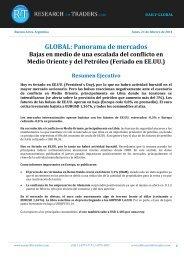 21/02/2011 Informe diario de mercados de Research for Traders ...
