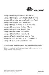 Vanguard International Growth Fund Prospectus Investor and Admiral