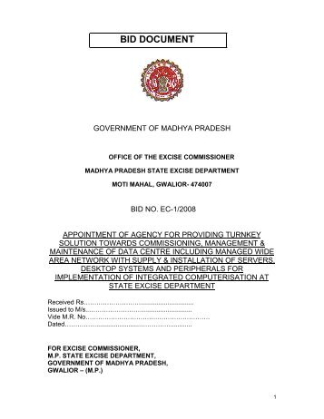 BID DOCUMENT - Madhya Pradesh State Excise