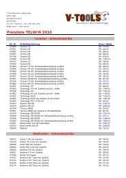Preisliste Telwin 2009 excel - v-tools